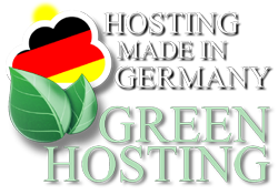 Webhosting Hosting Made in Germany Green